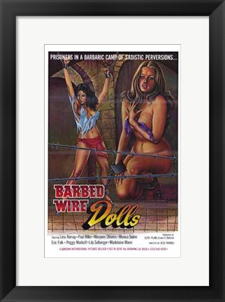 Framed Barbed Wire Dolls Print