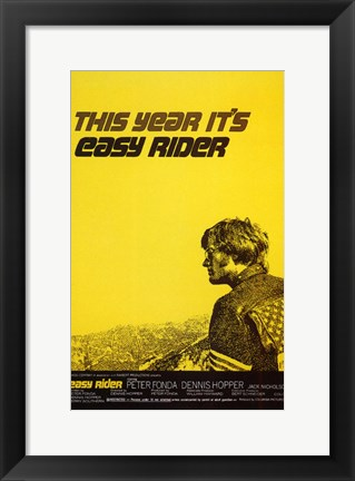 Framed Easy Rider This Year It's Easy Rider Print