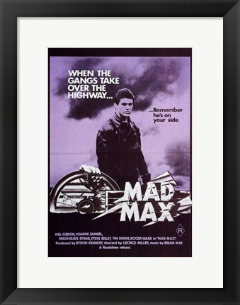 Framed Mad Max Purple Print
