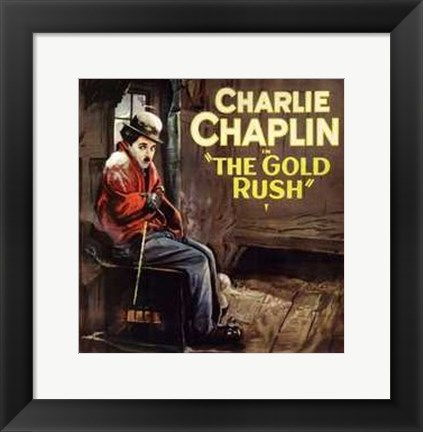 Framed Gold Rush Cold Charlie Chaplin Print