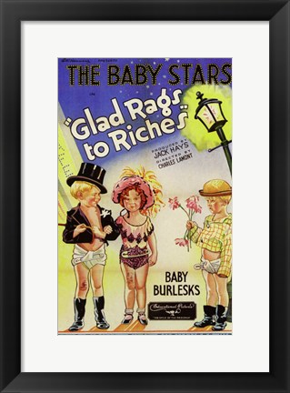 Framed Glad Rags to Riches Print