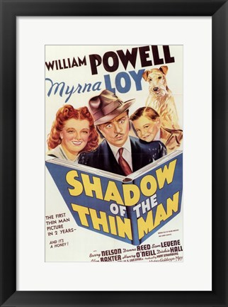 Framed Shadow of the Thin Man Print
