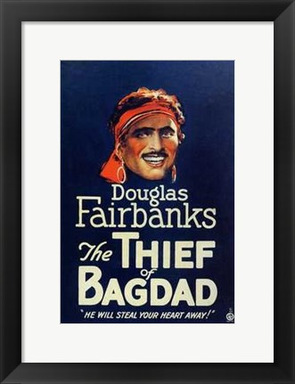 Framed Thief of Bagdad Douglas Fairbanks Print