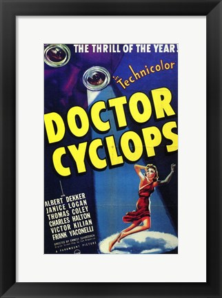 Framed Doctor Cyclops Print