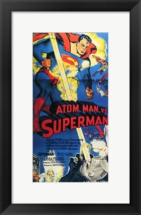 Framed Atom Man Vs Superman Tall Print