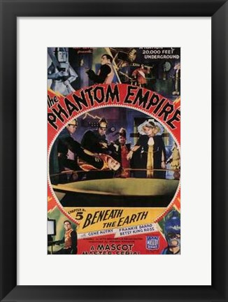 Framed Phantom Empire Beneath the Earth Print