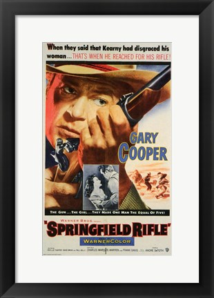Framed Springfield Rifle Print