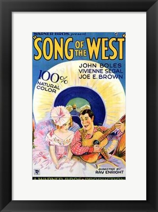 Framed Song of the West Print