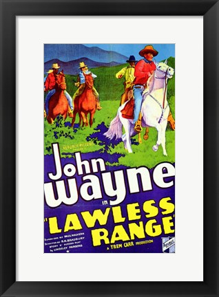 Framed Lawless Range Print