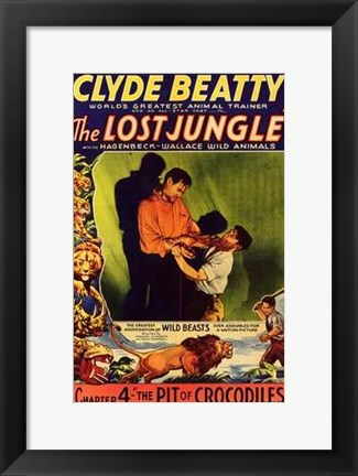 Framed Lost Jungle Print