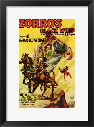Framed Zorro's Black Whip Chapter 1 Print