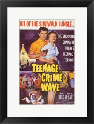 Framed Teenage Crime Wave Print