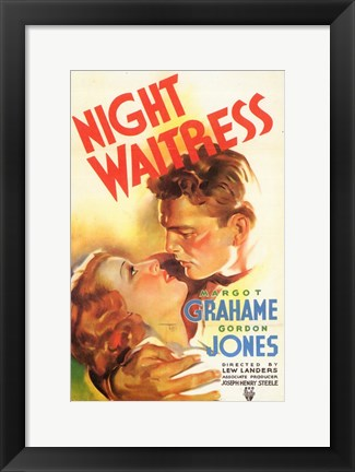 Framed Night Waitress Print
