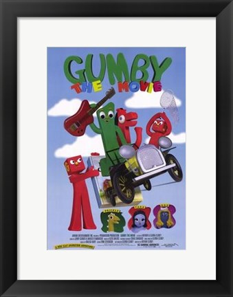 Framed Gumby Print