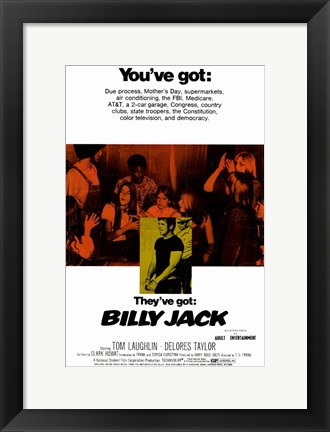 Framed Billy Jack Tom Laughlin Print