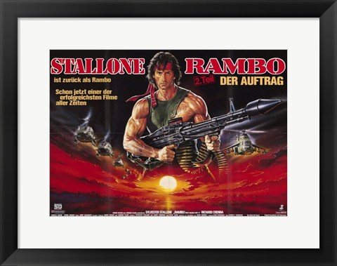 Framed Rambo: First Blood Part 2 Wide Print