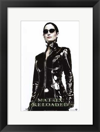 Framed Matrix Reloaded Carrie-Anne Moss as Trinity Print