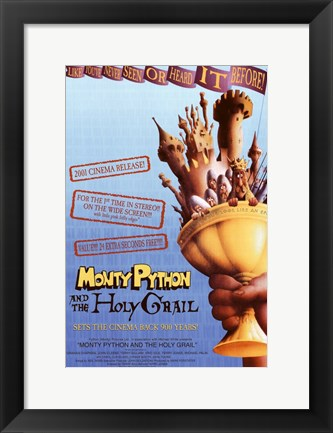 Framed Monty Python and the Holy Grail Print