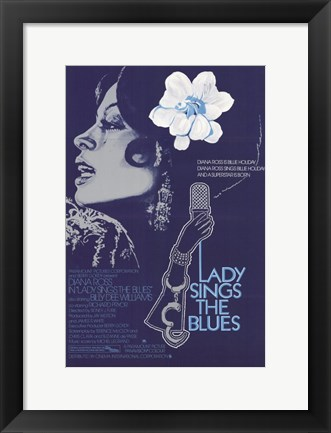 Framed Lady Sings the Blues Diana Ross Print