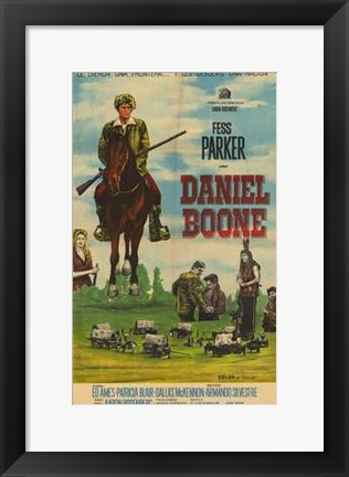 Framed Daniel Boone (Tv) Print