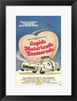 Framed Herbie Goes to Monte Carlo Spanish Print