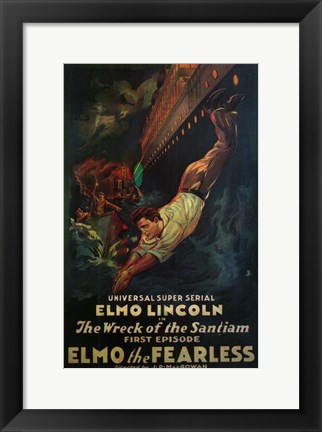 Framed Elmo the Fearless Print