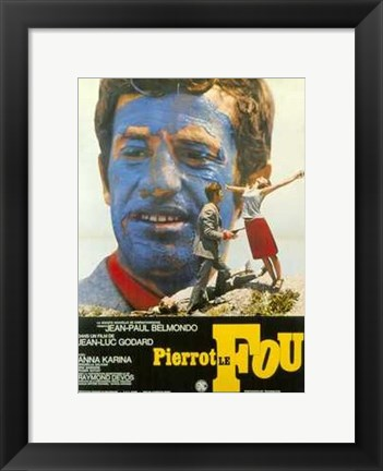 Framed Pierrot Le Fou French Print