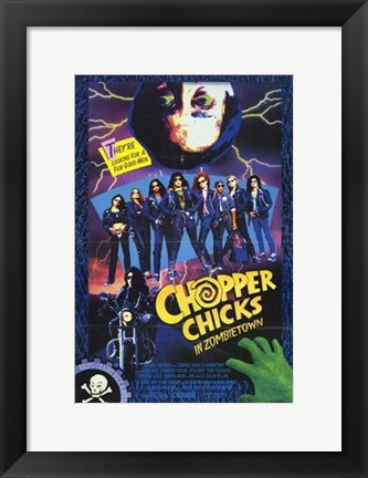 Framed Chopper Chicks in Zombietown Print