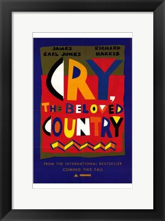 Framed Cry  the Beloved Country Print