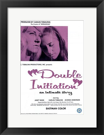 Framed Double Initiation Print