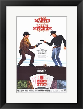 Framed 5 Card Stud Martin And Mitchum Print