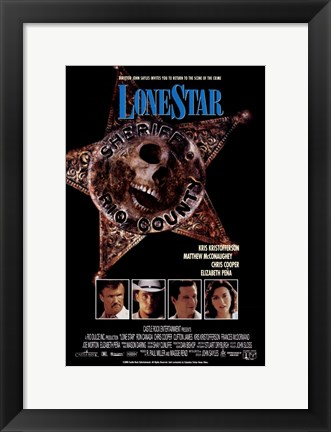 Framed Lone Star Movie Print
