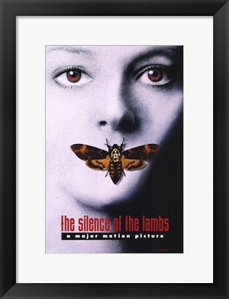 Framed Silence of the Lambs - a major motion picture Print