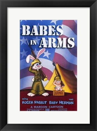 Framed Roger Rabbit: Babes in Arms Print