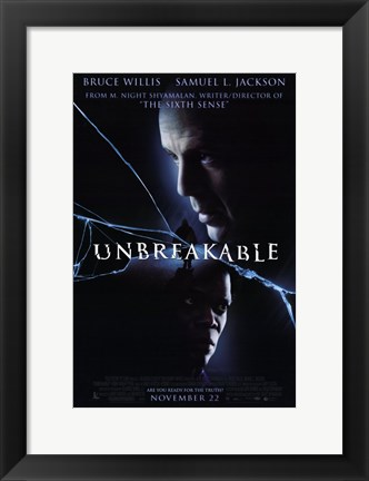 Framed Unbreakable movie poster Print