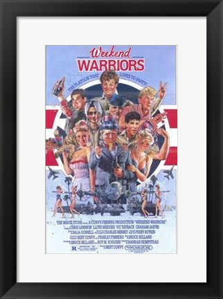 Framed Weekend Warriors Print
