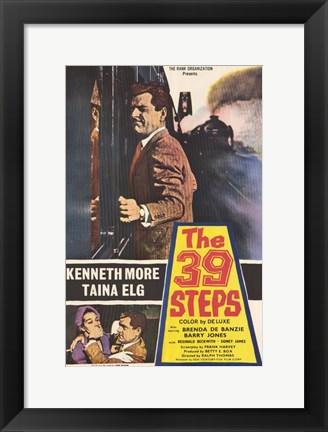 Framed 39 Steps More & Elg Print