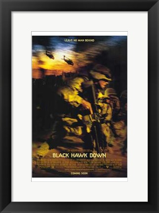 Framed Black Hawk Down Print
