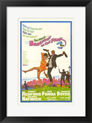 Framed Barefoot in the Park Print