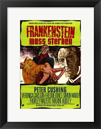 Framed Frankenstein Must Be Destroyed Peter Cushing Print