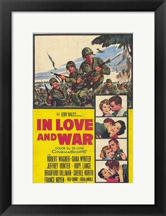Framed In Love And War Robert Wagner Print