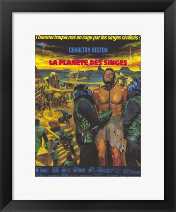 Framed Planet of the Apes (french) Print