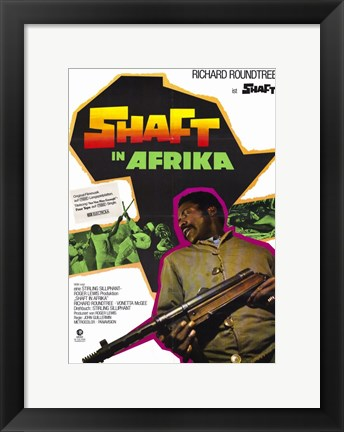 Framed Shaft in Africa Richard Roundtree Print