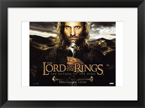 Framed Lord of the Rings: Return of the King Closeup Print