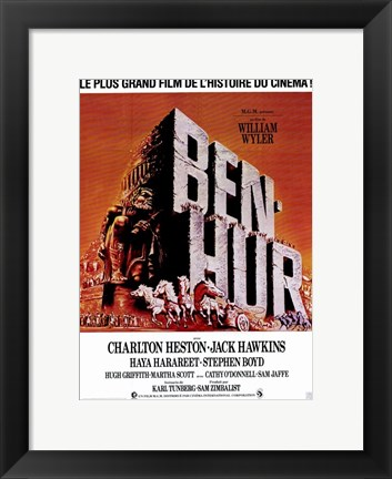 Framed Ben Hur French Print