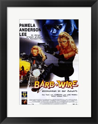 Framed Barb Wire - German - style A Print