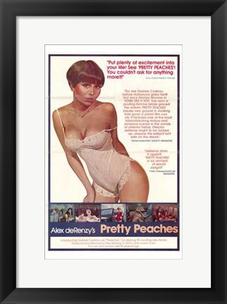 Framed Pretty Peaches Print