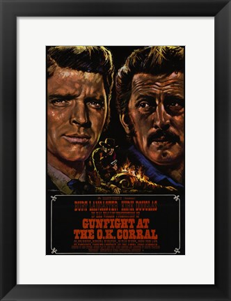 Framed Gunfight At the Ok Corral Print