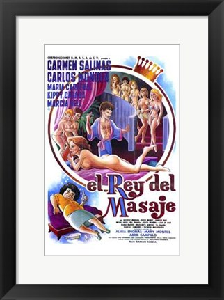 Framed King of Massage Print
