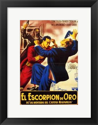 Framed Adventures of Captain Marvel - Spanish - style B Print